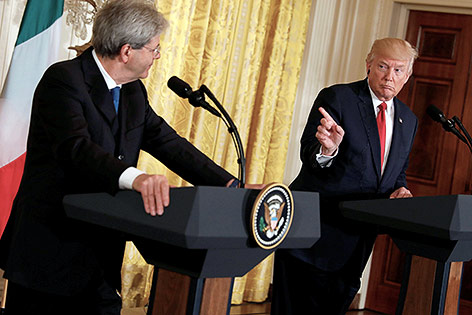 US-Präsident Donald Trump mit dem italienischen Premier Paolo Gentiloni