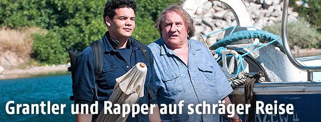 "Sadek und Gerard Depardieu im Film ""Tour de France"""