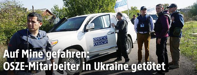 OSZE-Mitarbeiter in Ukraine
