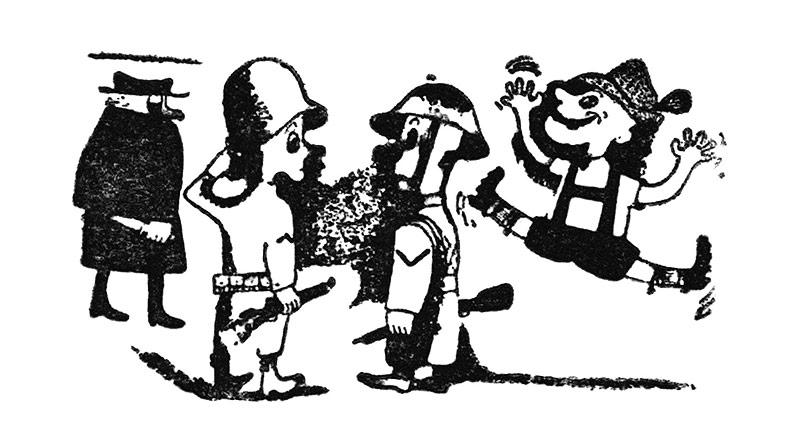 Illustration GIs mit Österreichern, 1945