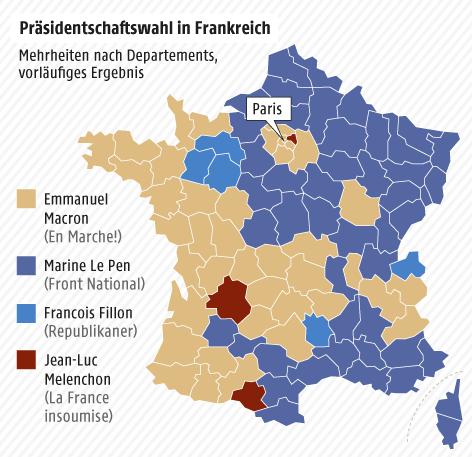 Grafik zu den Mehrheiten nach Departements