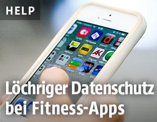Handy mit App-Ansicht