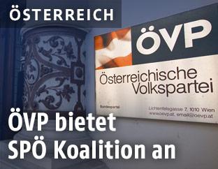 Türschild der ÖVP Wien