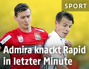 Stephan Zwierschitz (Admira) und Stefan Schwab (Rapid)