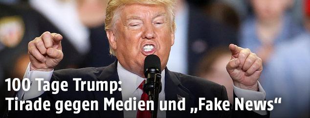 US-Präsident Trump während einer Rede in Harrisburg