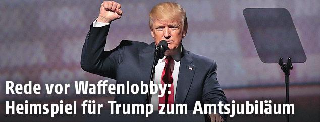 US-Präsident Donald Trump mit geballter Faust