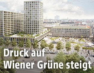 Rendering des Hochhausprojektes am Wiener Heumarkt