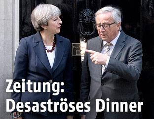Britische Premierministerin May und EU-Kommissionschef Juncker