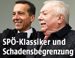Bundeskanzler Christian Kern und Wiens Bürgermeister Michael Häupl