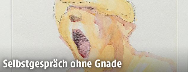 """Maria Lassnigs Bild """"Schreiende"""", 1981"""