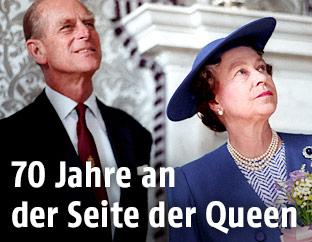 Prinz Philip und Queen Elizabeth 1990