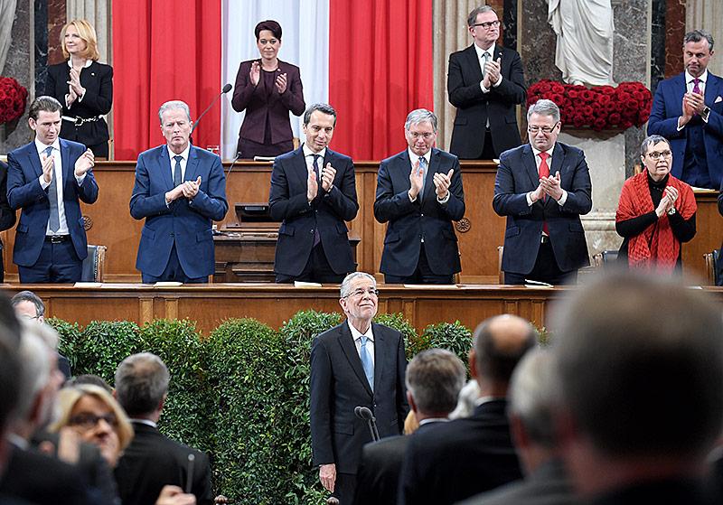 Angelobungszeremonie für Bundespräsident Van der Bellen