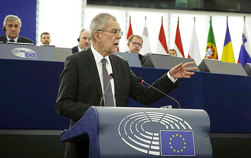 Bundespräsident Van der Bellen spricht vor dem EU-Parlament