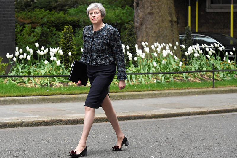 Die britische Premierministerin Theresa May