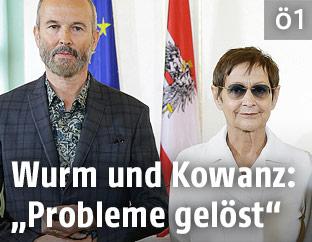 Erwin Wurm und Brigitte Kowanz