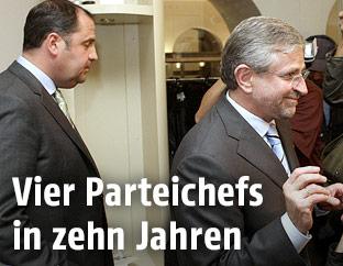 Die ehemligen ÖVP-Obmänner Josef Pröll und Wilhelm Molterer