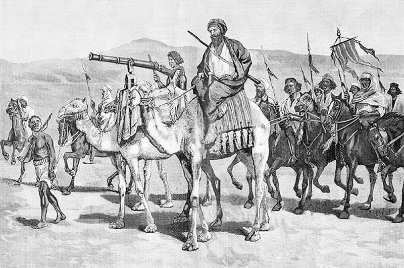 Eine Vorhut der Truppen des Mahdi