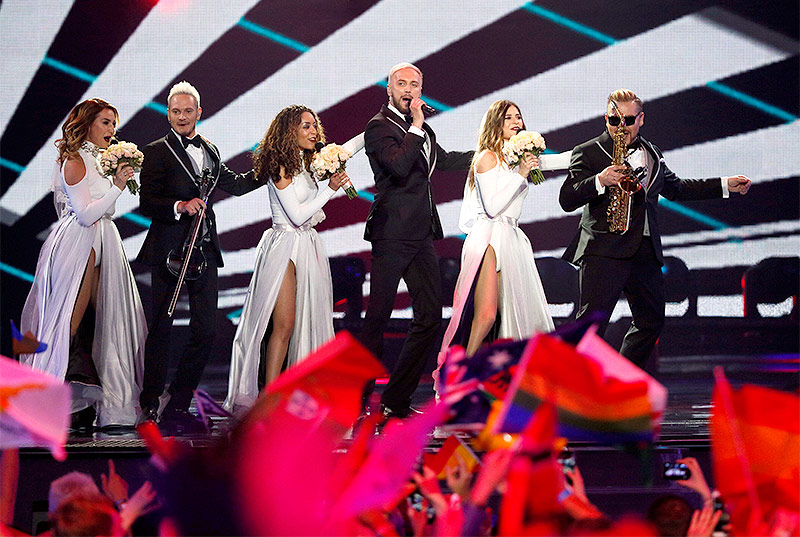 SunStroke Project (Moladwien) beim ESC 2017