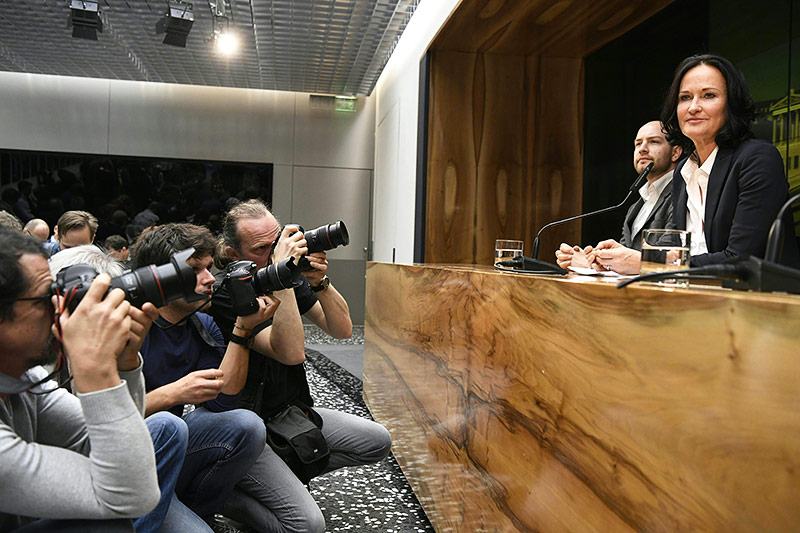Pressekonferenz von Eva Glawischnig