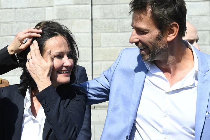 Eva Glawischnig mit ihrem Mann Volker Piescek