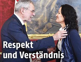 Alexander Van der Bellen mit Eva Glawischnig