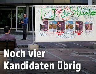 Wahlplakate im Iran