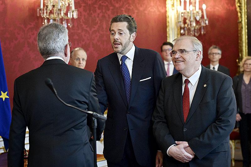 Alexander Van der Bellen, Harald Mahrer (ÖVP) und Wolfgang Brandstetter (ÖVP)