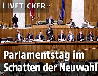 Kern spricht im Parlament
