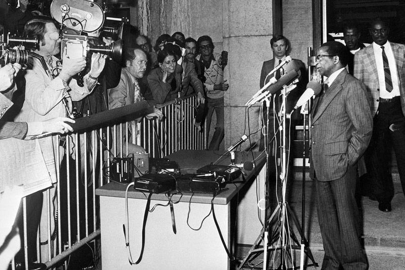 Robert Mugabe in Genf 1976