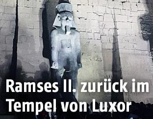 Statue von Ramses II. in Luxor