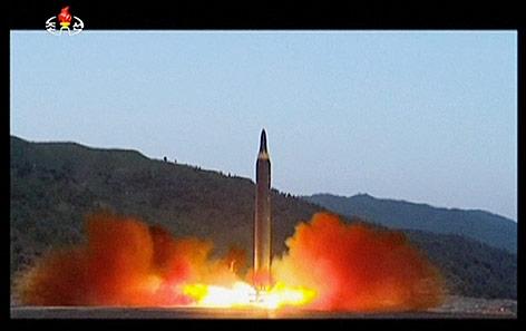 Raketenstart in  Nordkorea