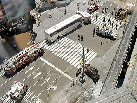 Feuerwehr und Polizei am Times Square