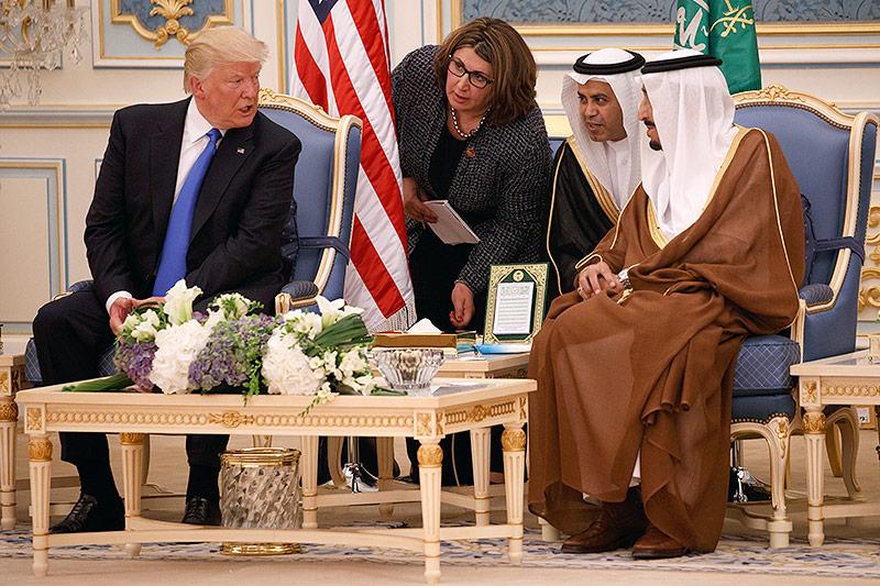 US-Präsident Donald Trump mit König Salman von Saudi Arabien