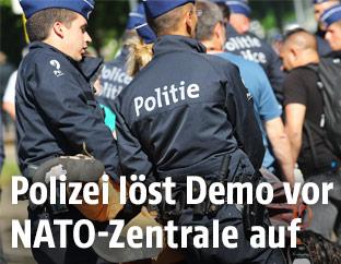 Polizei löst Demonstration auf