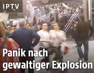 Panik nach dem Anschlag