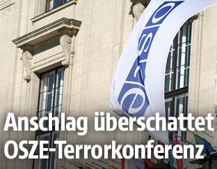 Fahne der OSZE in Wien