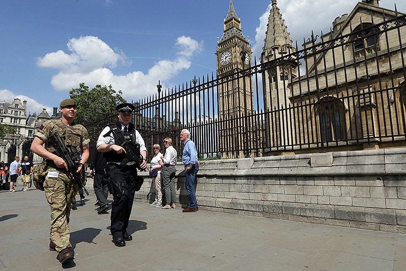 Soldaten in Westminster, London