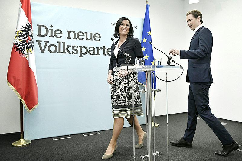 Die neue ÖVP-Generalsekretärin Elisabeth Köstinger und der designierte ÖVP-Chef AM Sebastian Kurz