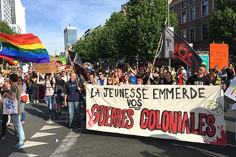 Demonstranten in Brüssel