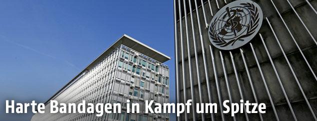 Das Hauptquartier der WHO in Genf