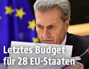 EU-Budgetkommissar Günther Oettinger