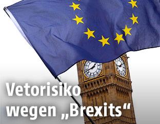 EU-Flage vor Big Ben