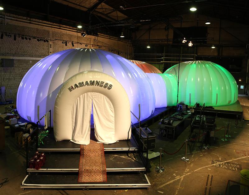 Hamamness-Zelt auf dem Festwochen-Gelände