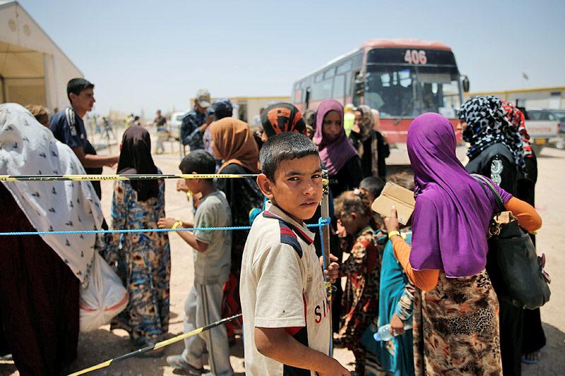 Irakische Flüchtlinge in einem Camp