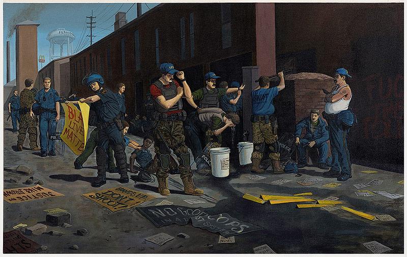 Kunstwerk Standing Down