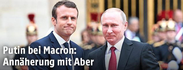 Frankreichs Präsident Emmanuel Macron und sein russischer Amtskollege Wladimir Putin