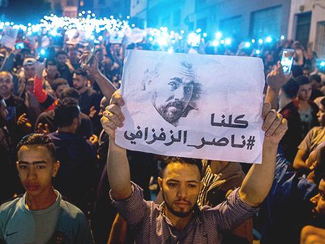Demonstranten in Marokko