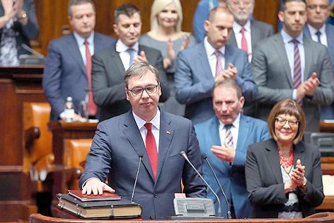 Angelobung von Aleksandar Vucic zum Präsidenten Serbiens