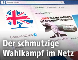 Foto der Facebook-Seite der britischen Conservatives
