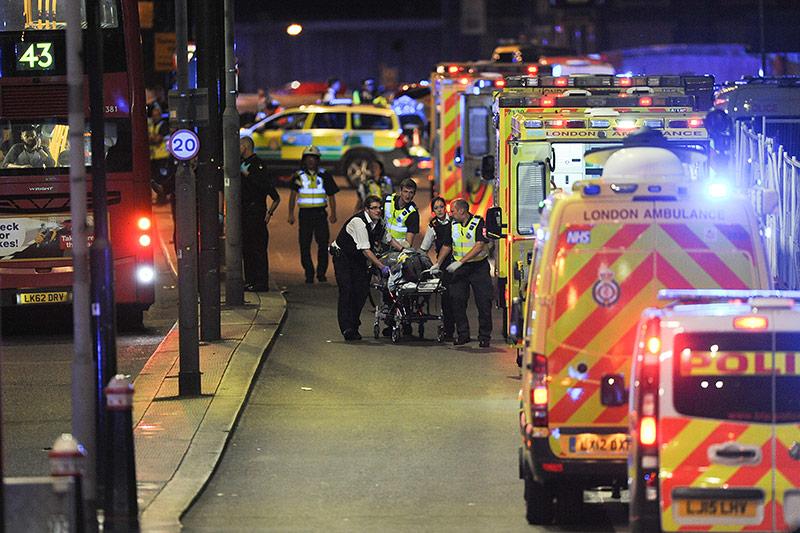 Rettungskräfte in London